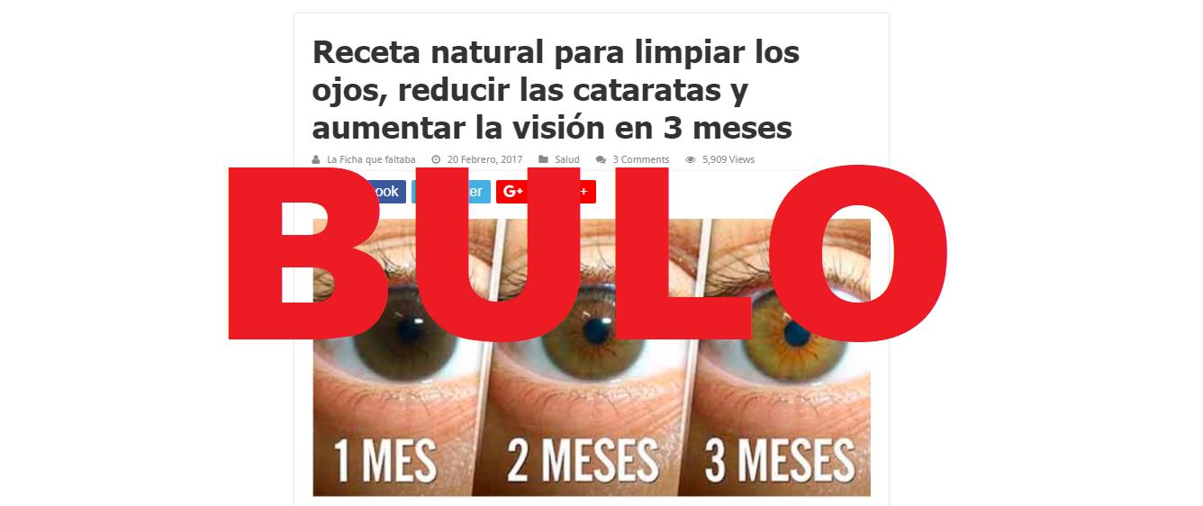 remedio casero para eliminar la visión borrosa