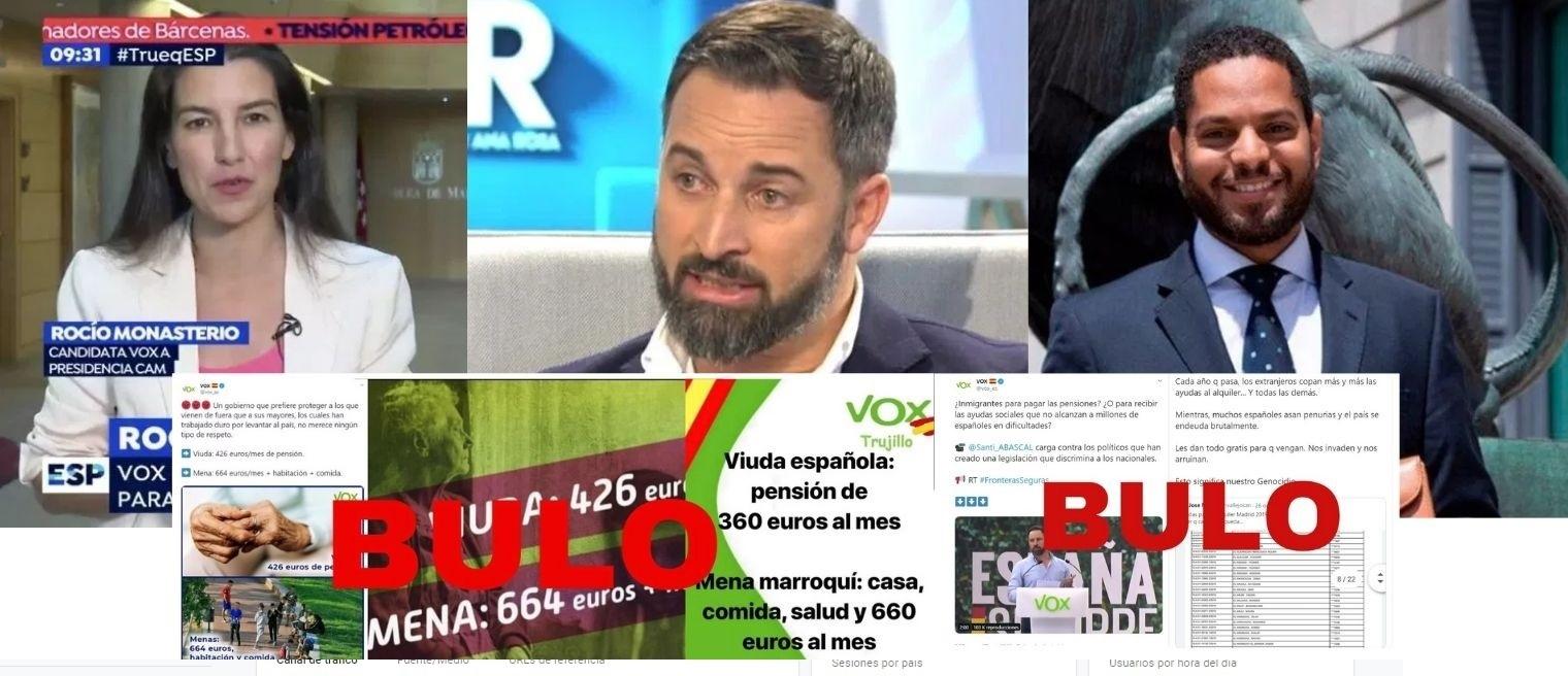 Los bulos que ha usado VOX para hablar de inmigración: manadas, ayudas al alquiler, MENA y 'paguitas' de 664 euros