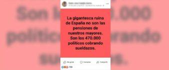 """No, no hay pruebas de que en España haya """"470.000 políticos cobrando un sueldazo"""""""