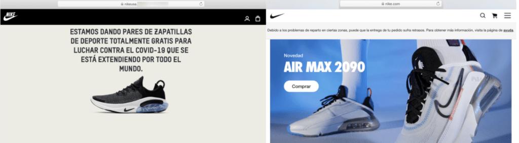 Monet Calle núcleo  No, Nike no está donando zapatillas en una campaña contra el coronavirus -  Maldita.es