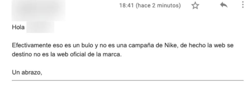 Registro interior Ewell  No, Nike no está donando zapatillas en una campaña contra el coronavirus -  Maldita.es