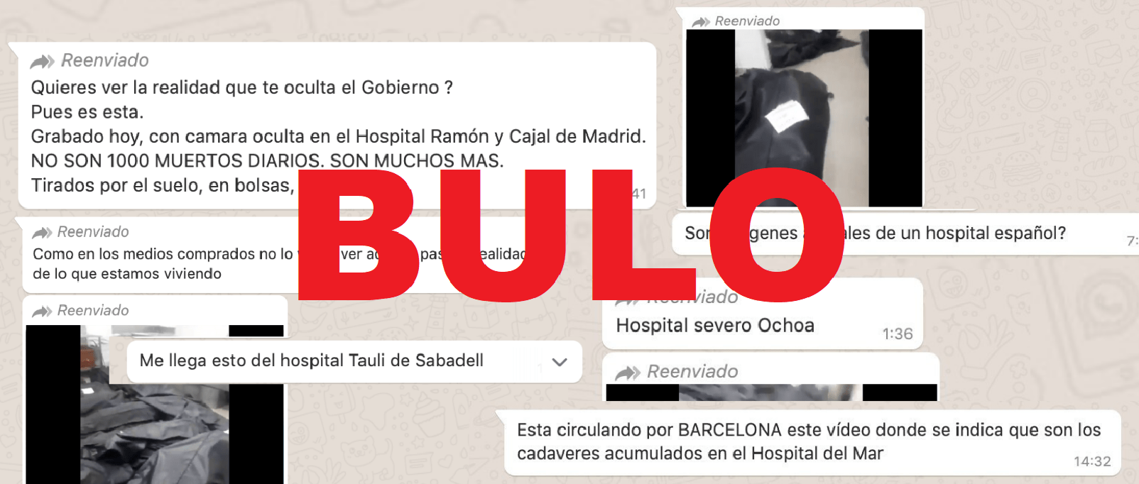 No es el Hospital Ramón y Cajal de Madrid ni el Tauli de Sabadell: el vídeo con cadáveres hacinados es Ecuador - Maldita.es
