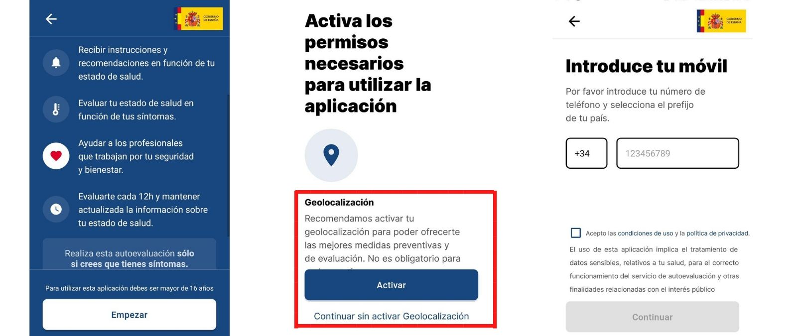 Asistencia Covid 19 La App De Autodiagnostico Del Gobierno Solo Te Geolocaliza Si La Descargas Y Activas Esta Opcion Al Empezar El Test Maldita Es