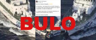 """No, esta foto no es de la Armada australiana bloqueando a """"un carguero lleno de inmigrantes ilegales"""": es un conflicto entre China y Japón en agosto de 2012 y era un barco de activistas chinos"""