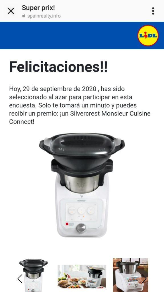 Bulo encuesta regalo Lidl robot de cocina Silvercrest Monsieur Cuisine