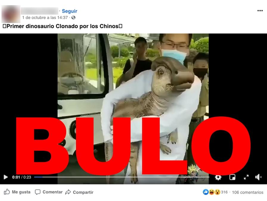No Este Video No Muestra Un Dinosaurio Real Clonado Por Los Chinos Maldita Es ¿dinosaurios vivos en la actualidad? video del primer dinosaurio clonado por los chinos