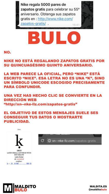 Pez anémona muerte Crudo  No, Nike no está regalando calzado por su 55º aniversario · Maldita.es —  Periodismo para que no te la cuelen