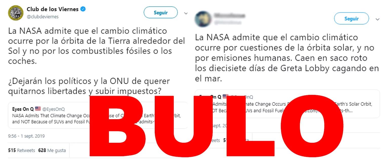 """No, la NASA no ha admitido """"que el cambio climático ocurre por los cambios en la órbita solar de la Tierra y no por los todoterrenos"""