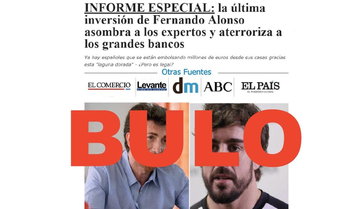 No, Fernando Alonso no ha acudido a El Hormiguero para hablar de CryptoBoom, la última versión del timo del bitcoin